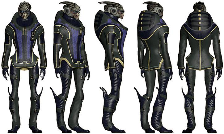 Garrus model sheet - civilian clothing