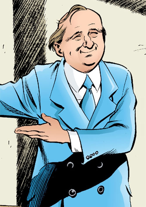 Gary the Pathetic Fallacy (Jack of Fables ally) (DC Comics) smiling in a blue suit