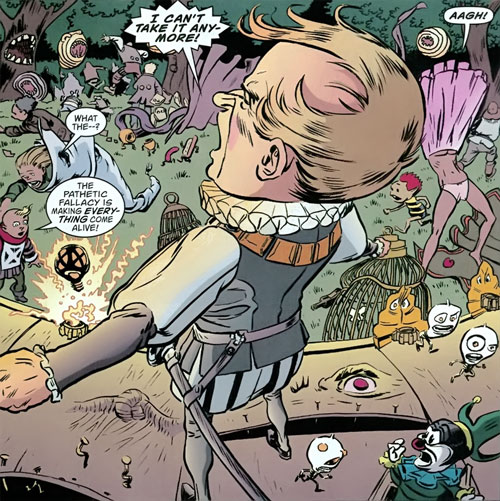 Gary the Pathetic Fallacy (Jack of Fables ally) (DC Comics) animates everything on a theatre stage