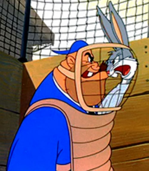 Gashouse Gorilla baseball player (Bugs Bunny enemy) arguing with Bugs