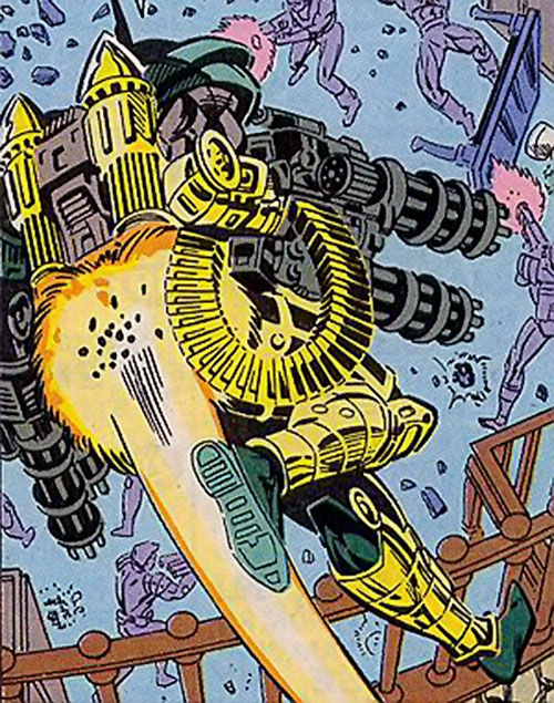 Gattling (Silver Sable enemy) (Marvel Comics) with his jetpack