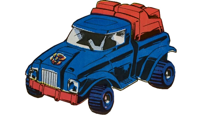 Gears of the Transformers in Marvel Comics of the 1980s -- 4WD truck form