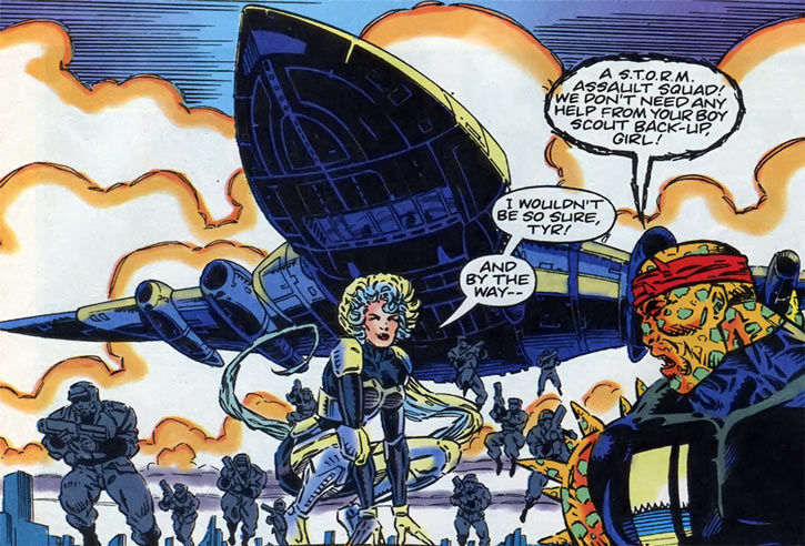 Gene Dogs - STORM - Marvel Comics UK - Plane and commando
