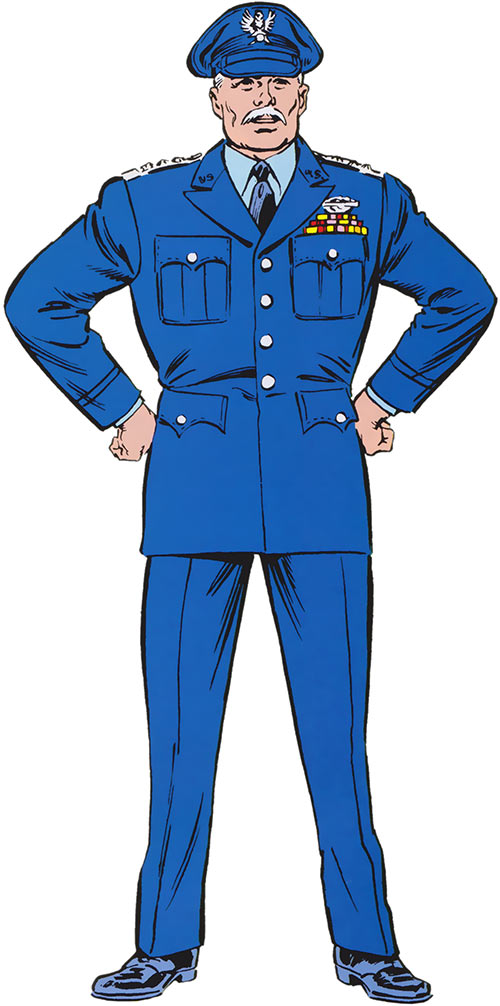 "General ""Thunderbolt"" Ross (Marvel Comics) in an Air Force dress uniform"