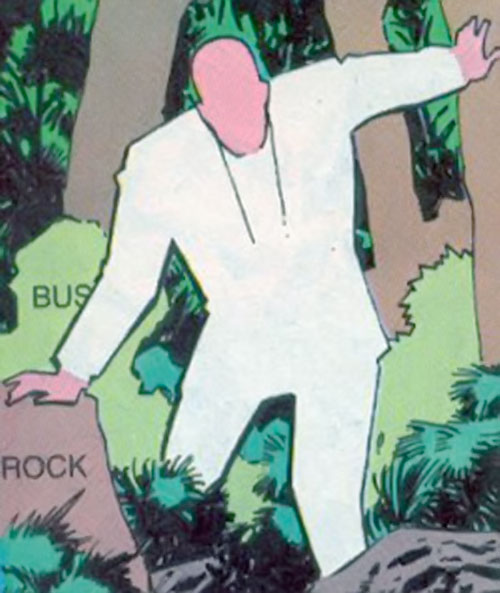 The Generic Man (Heckler enemy) (DC Comics) in the woods