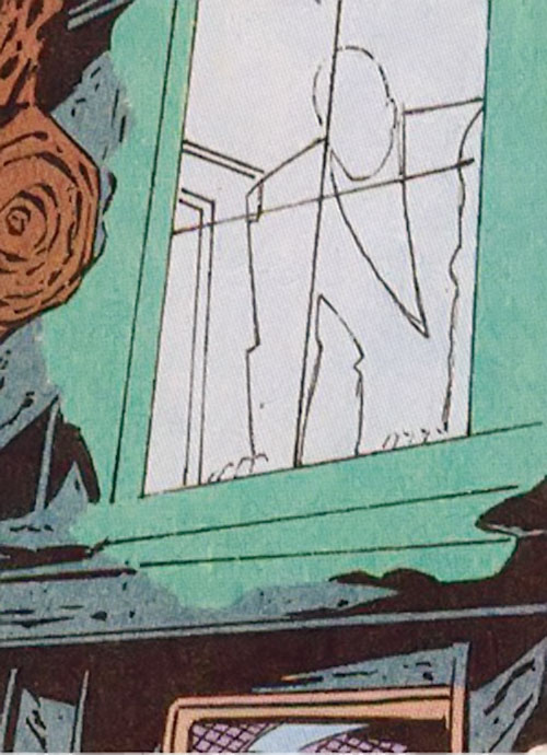 The Generic Man (Heckler enemy) (DC Comics) at his window