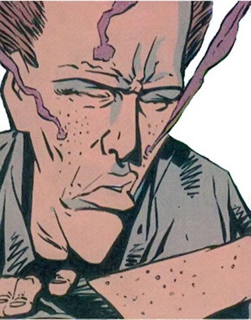 Buckshot (Generic Man ally, Heckler enemy) (DC Comics) after using her powers
