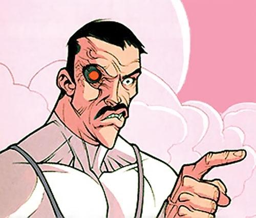 Viltrumite (Invincible Comics) with cybernetic eye