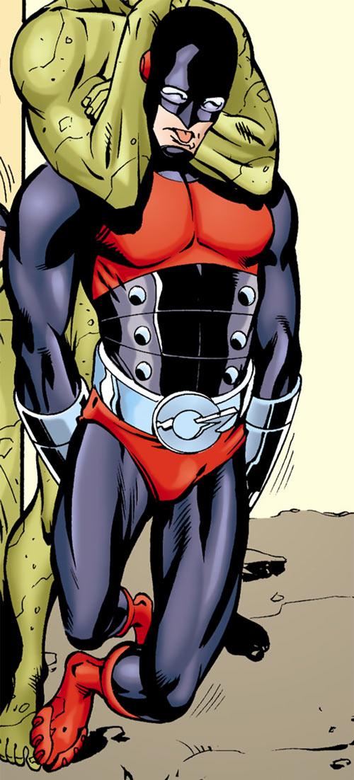 Geomancer (JSA enemy) (DC Comics) strangled unconscious