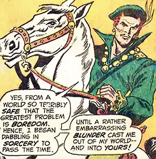 Ghilkyn (Claw the Unconquered ally) (DC Comics) on a white horse