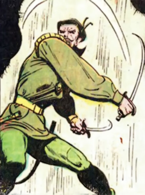 Ghilkyn (Claw the Unconquered ally) (DC Comics) fighting with paired blades