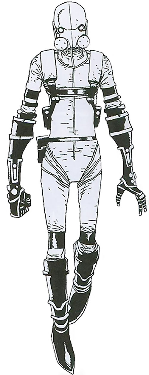 Ghost of the Thunderbolts (Iron Man enemy) (Marvel Comics) Thunderbolts era white costume