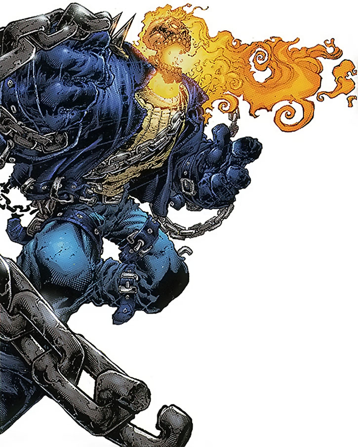 Ghost Rider as he appeared in the 2007 mini-series