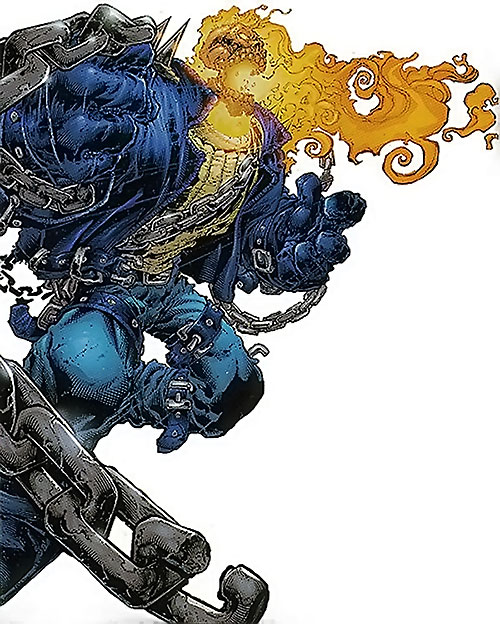 Ghost Rider 2007 (Marvel Comics) with his chain