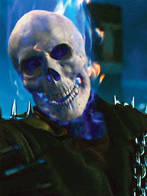Ghost Rider (Nicholas Cage 2007 movie) with his flame extinguished