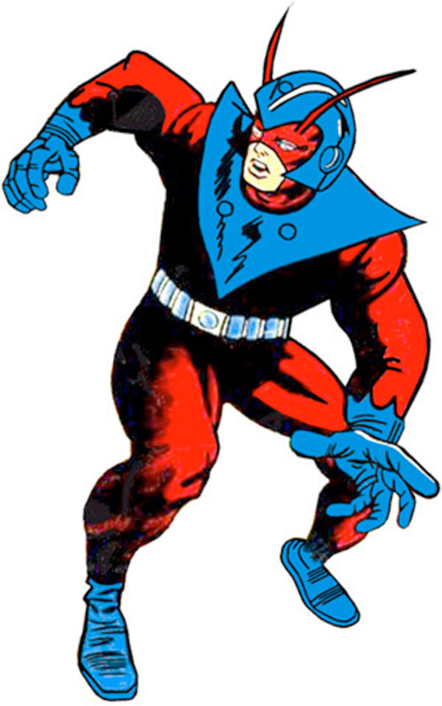 Gint-Man of the Avengers (Marvel Comics) early red costume with blue helmet