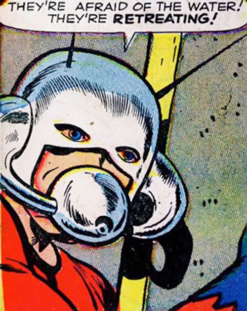 Ant-Man of the Avengers (Marvel Comics) early face closeup