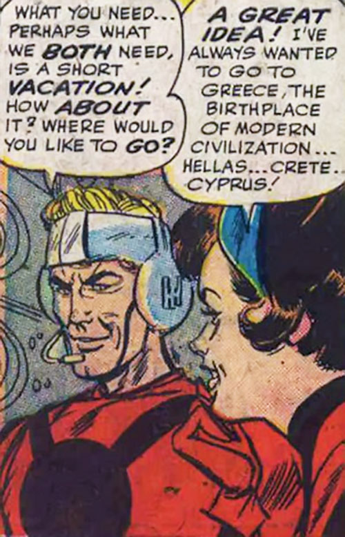 Early Henry Pym and Janet van Dyne as Ant-Man and the Wasp (Marvel Comics), face closeup