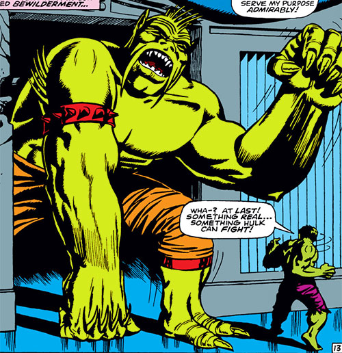 Giant Green Mustachoied Android (Marvel Comics) (Mandarin robot)