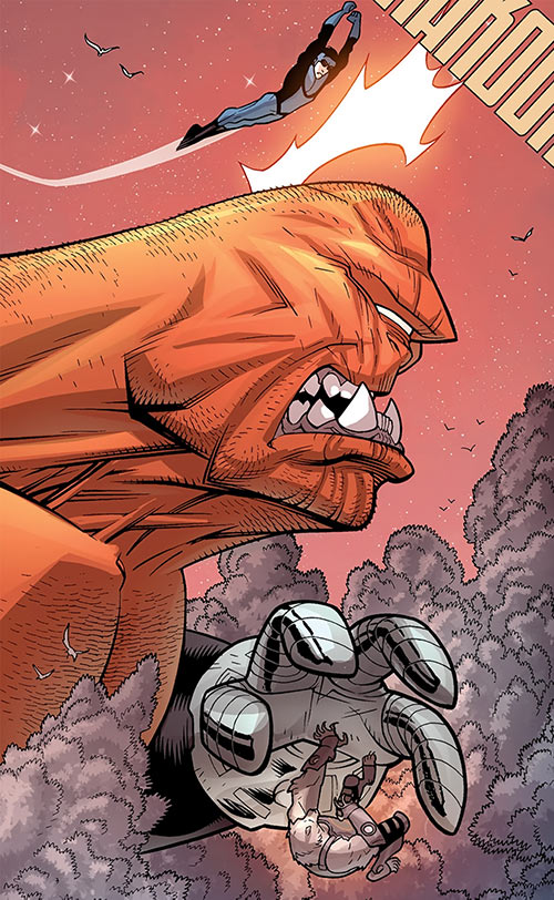 Giant (Invincible / Wolf-Man enemy) (Image Comics) conked on the head