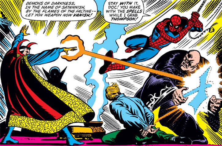 Giant One vs. Doctor Strange and Spider-Man