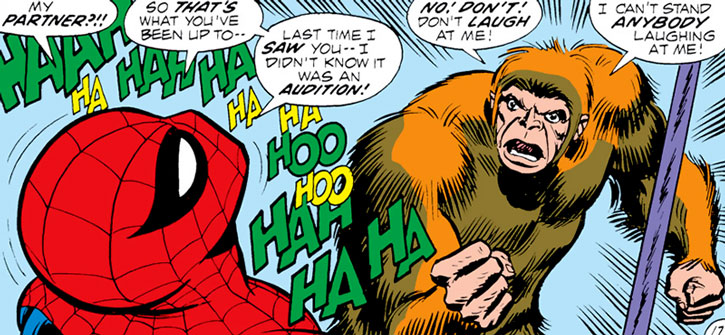 Spider-Man laughing at the Gibbon (Martin Blank)