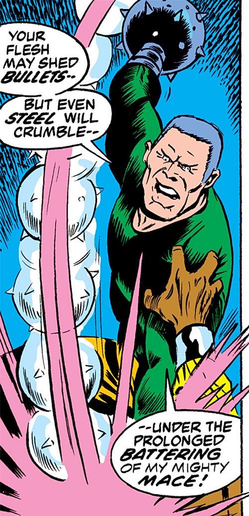 Gideon Mace (Luke Cage enemy) (Marvel Comics) hits with his mace