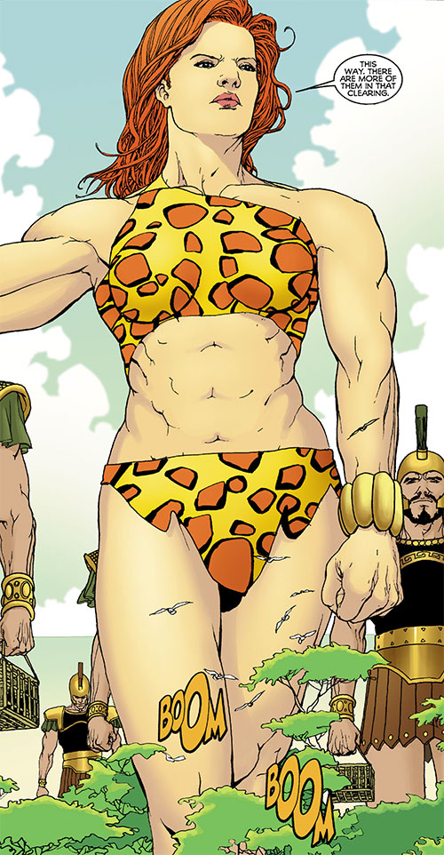 Giganta (Wonder Woman enemy) (DC Comics) towering above trees