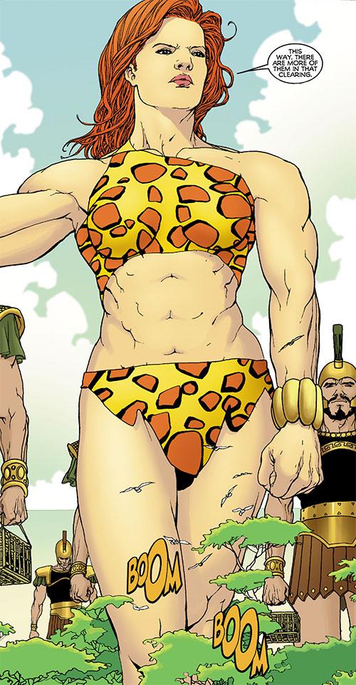 Giganta (Wonder Woman enemy) (DC Comics) towering above trees