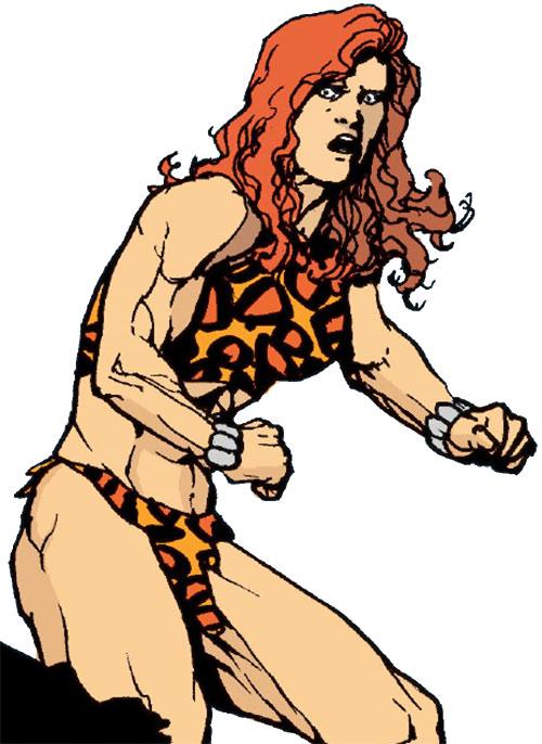 Giganta (Wonder Woman enemy) (DC Comics) surprised