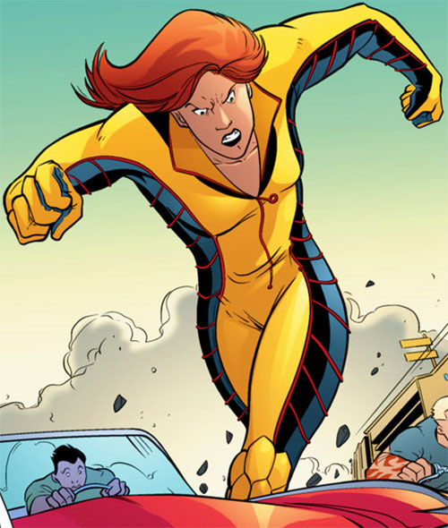 Giganta (Blue Beetle) (DC Comics) running