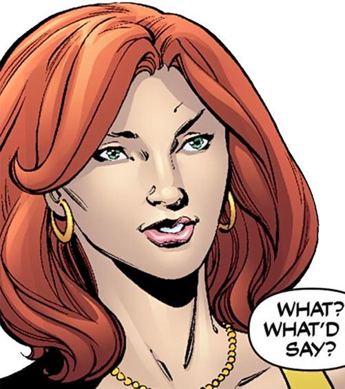 Giganta (Wonder Woman / Atom character) (DC Comics) face closeup