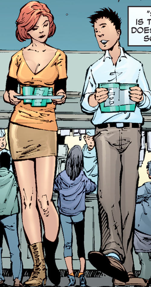 Giganta (Wonder Woman / Atom character) (DC Comics) as Dr. Zeul, with Dr. Choi
