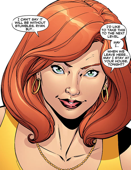 Giganta (Wonder Woman / Atom character) (DC Comics) as Dr. Zeul, face closeup