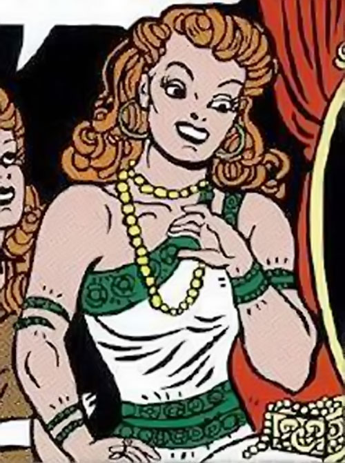 Giganta (Wonder Woman enemy) (Golden Age DC Comics) with jewels