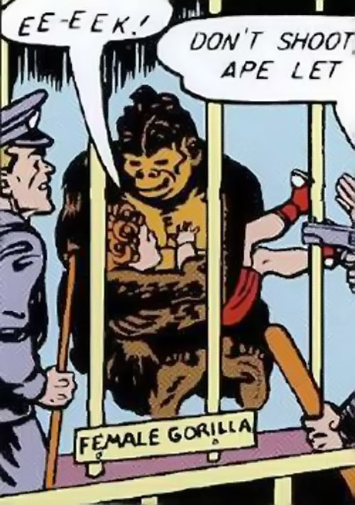 Giganta (Wonder Woman enemy) (Golden Age DC Comics) as an ape
