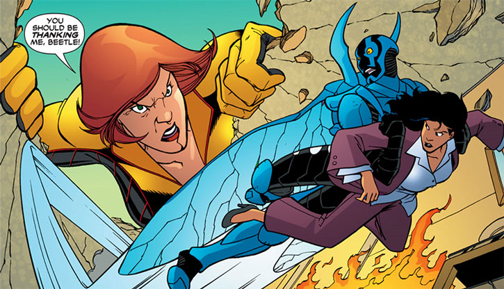 Giganta chasing the Blue Beetle