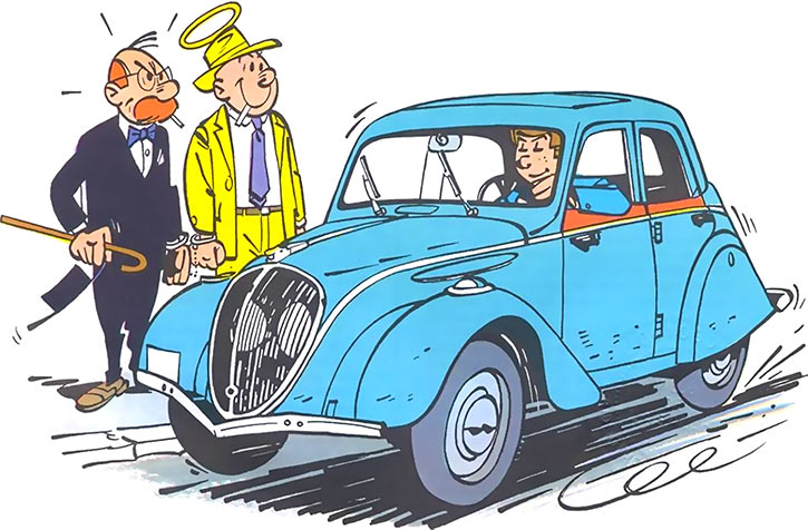 Gil Jourdan - BD - Comics - Peugeot 202