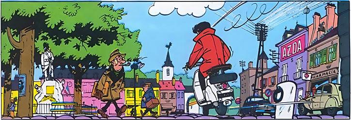 Gil Jourdan - BD - Comics - Place d'une ville de province