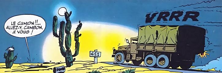 Gil Jourdan - BD - Comics - Camion M35 desert nuit