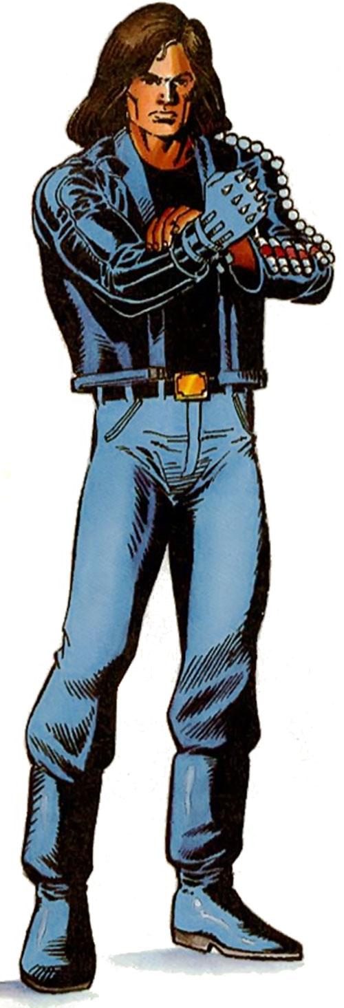 Gilad Anni Padda the Eternal Warrior (Original 1990s Valiant comics) adjusting his spiked glove