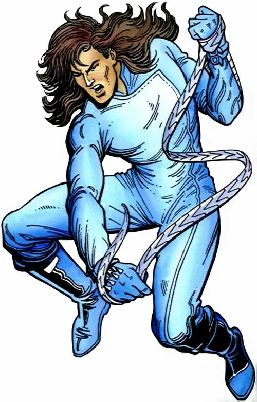 Gilad Anni Padda the Eternal Warrior (Original 1990s Valiant comics) blue jumpsuit