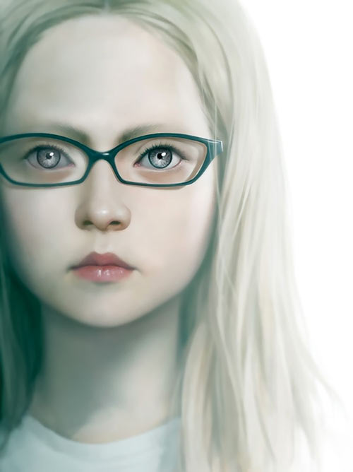 Girl with the Silver Eyes - Willo Roberts novel - Cover portrait Jason Chan
