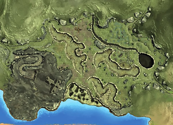 An Everquest 2 area map