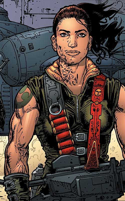 Global Frequency comics - Big Wheel tactical team - Muscle woman