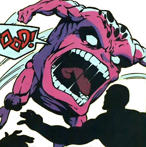 Glom (Marvel Comics) attacking an antibody