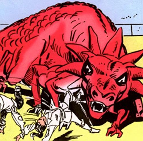 A gnarth approaches Diana Prince (Wonder Woman) ( DC Comics)
