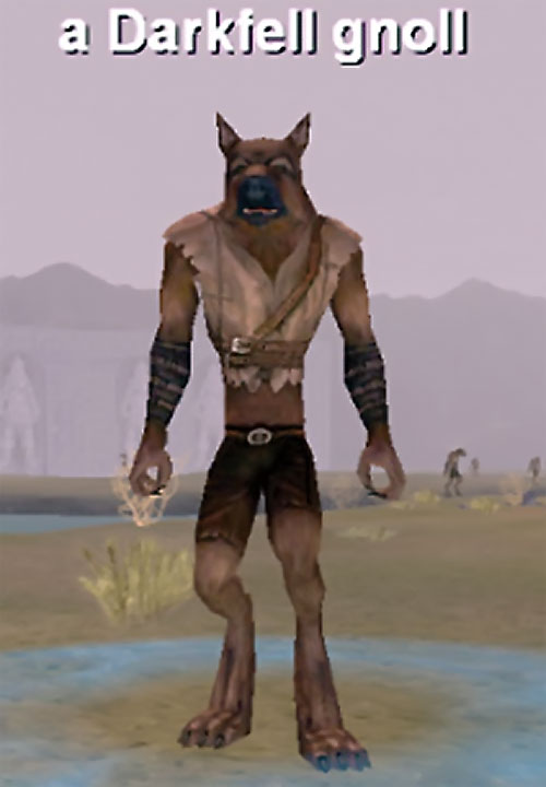 Gnoll in Everquest 1 - Darkfell gnoll on a plain