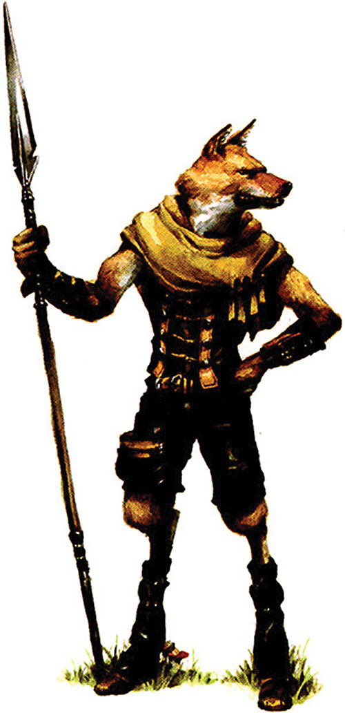 Gnoll in Everquest RPG art