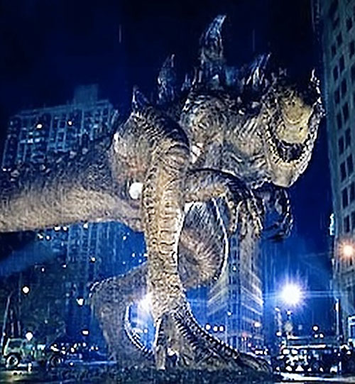 Godzilla (1998 movie version) side view